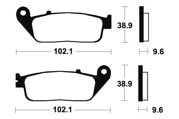Přední brzdové destičky SBS 700HF - Honda VT C, SHADOW 750ccm - 98>03 SBS (Bendix)