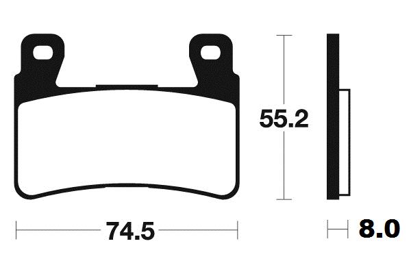 Přední brzdové destičky SBS 734RS - Honda VTR 1000 SP-1, 1000ccm - 00-01 SBS (Bendix)
