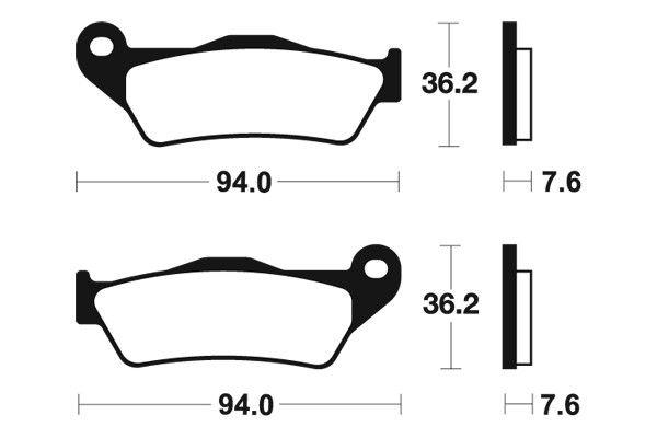 Přední brzdové destičky SBS 671HF - Yamaha Majesty 180ccm - 03>03 SBS (Bendix)