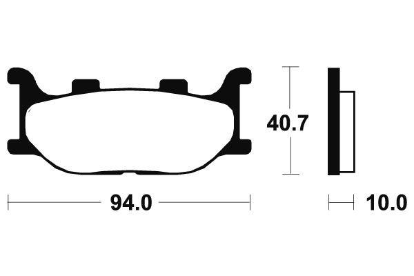 Přední brzdové destičky SBS 691HF - Yamaha YP 250 DX Majesty, 250ccm - 98-99 SBS (Bendix)