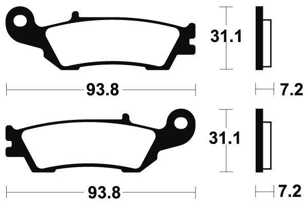 Přední brzdové destičky SBS 840RSI - Yamaha YZ 125ccm - 08> SBS (Bendix)