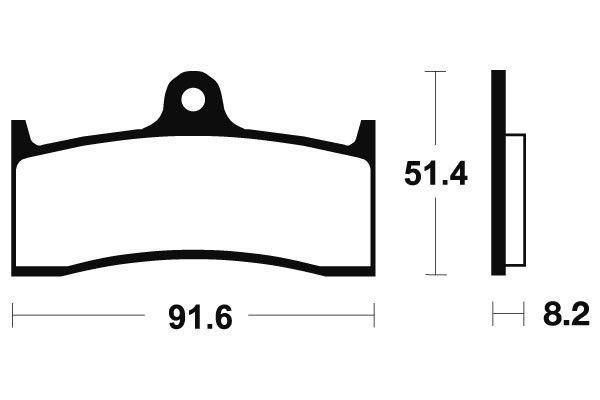 Přední brzdové destičky Brembo 07KA20RC - Honda CB SF 1300ccm - 98> Brembo (Itálie)