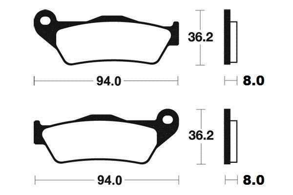 Přední brzdové destičky Brembo 07BB04SX - Yamaha YZF R 125ccm - 08> Brembo (Itálie)