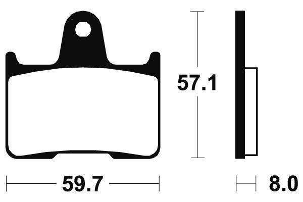 Zadní brzdové destičky SBS 715HF - Honda CB R 1300ccm - 02> SBS (Bendix)