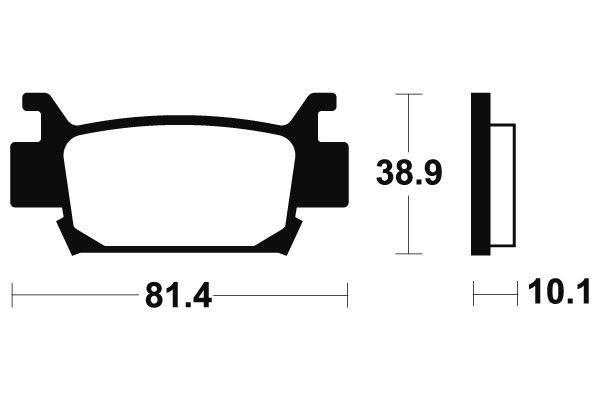 Zadní brzdové destičky SBS 829SI - Honda TRX 700 XX, 700ccm - 08-11 SBS (Bendix)