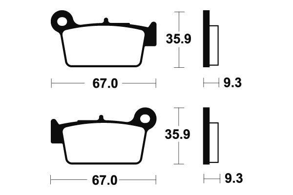 Zadní brzdové destičky SBS 790RSI - Yamaha YZ 125ccm - 03>07 SBS (Bendix)