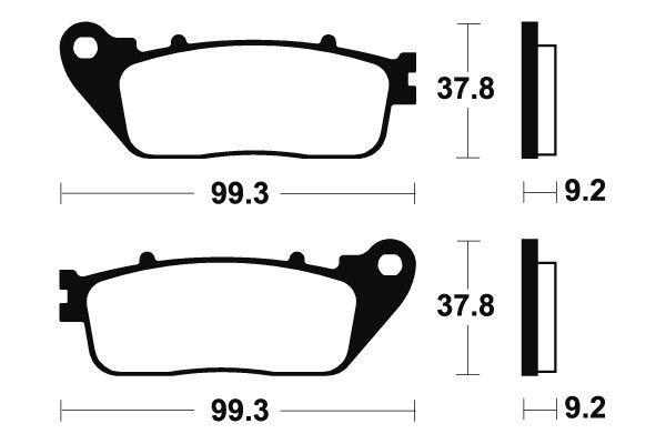 Zadní brzdové destičky Brembo - Honda VFR F 1200ccm - 10> Brembo (Itálie)
