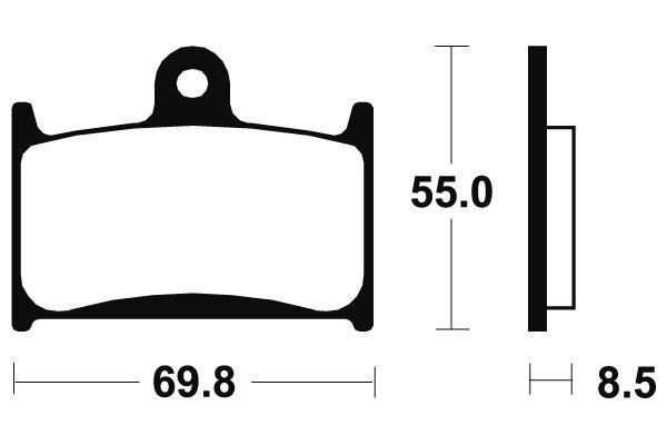 Přední brzdové destičky SBS 624RS - Yamaha TZ GP 250ccm - 98>02 SBS (Bendix)