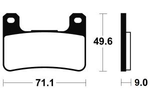 Přední brzdové destičky Brembo 07SU27RC - Suzuki GSX 1300 R Hayabusa, 1300ccm - 08-12