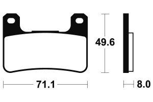 Přední brzdové destičky Brembo 07SU27SA - Suzuki GSX 1300 R Hayabusa, 1300ccm - 08-12