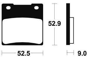 Zadní brzdové destičky Brembo 07KS0507 - Suzuki GSX 1300 R Hayabusa, 1300ccm - 99-07