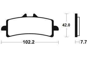 Přední brzdové destičky Brembo 07BB37SC - BMW HP4, 1000ccm - 12-16