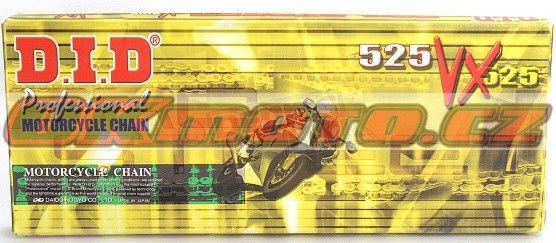 Řetěz DID - 525VX - X-ring - 118 článků D.I.D (Japonsko)