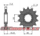 Řetězové kolečko SUNSTAR - Honda CBF 600 S, 600ccm - 08-12