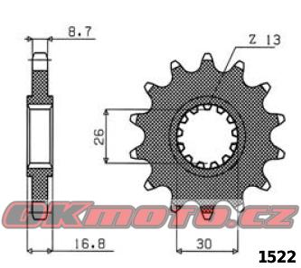 Řetězové kolečko SUNSTAR - Honda CBR 1000 RR Fireblade, 1000ccm - 04-16 SUNSTAR (Japonsko)