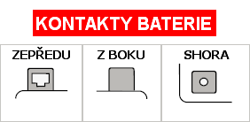 kontakty baterie