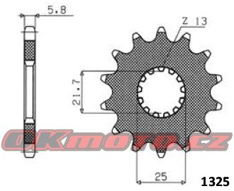 Řetězové kolečko SUNSTAR - Kawasaki KLE 650 Versys, 650ccm - 07-20 SUNSTAR (Japonsko)