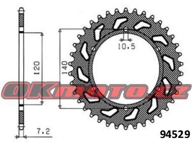 Rozeta SUNSTAR - Kawasaki W 650, 650ccm - 99>06 SUNSTAR (Japonsko)