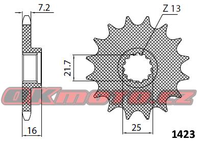 Řetězové kolečko SUNSTAR - Kawasaki ZZR 600, 600ccm - 05>08 SUNSTAR (Japonsko)