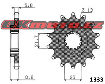 Řetězové kolečko SUNSTAR - Kawasaki EX 500 Ninja, 500ccm - 06>09 SUNSTAR (Japonsko)