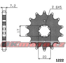 Řetězové kolečko SUNSTAR - Honda XR 125 L, 125ccm - 03>08 SUNSTAR (Japonsko)
