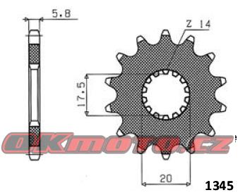 Řetězové kolečko SUNSTAR - Yamaha WR 125, 125ccm - 91>00 SUNSTAR (Japonsko)