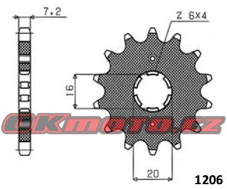 Řetězové kolečko SUNSTAR - Yamaha YBR 125, 125ccm - 05>06 SUNSTAR (Japonsko)