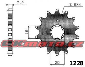 Řetězové kolečko SUNSTAR - Yamaha YBR 125, 125ccm - 07-15 SUNSTAR (Japonsko)