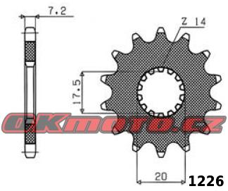 Řetězové kolečko SUNSTAR - Yamaha DT 125 X, 125ccm - 05>06 SUNSTAR (Japonsko)