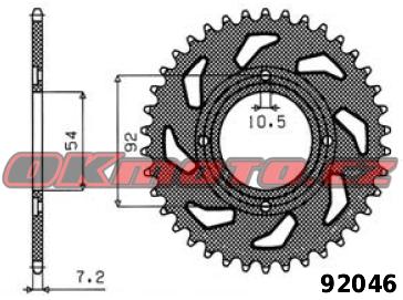Rozeta SUNSTAR - Yamaha RD 125 LC1/LC2, 125ccm - 82>89 SUNSTAR (Japonsko)