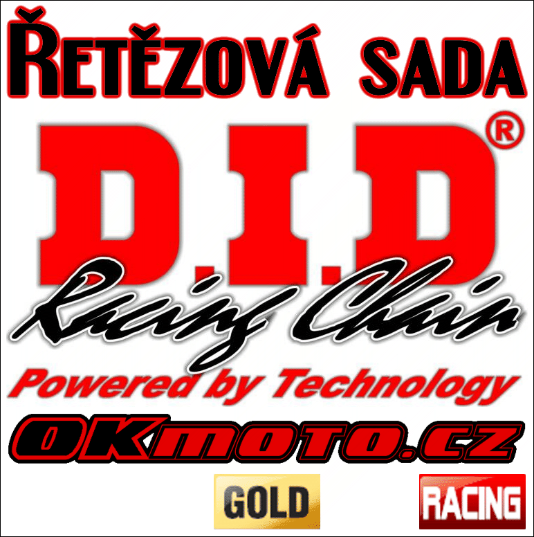 Řetězová sada D.I.D - 520DZ2 GOLD - Yamaha YZ 125, 125ccm - 87>87 D.I.D (Japonsko)