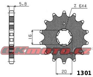 Řetězové kolečko SUNSTAR - Yamaha YZ 125, 125ccm - 85>85 SUNSTAR (Japonsko)