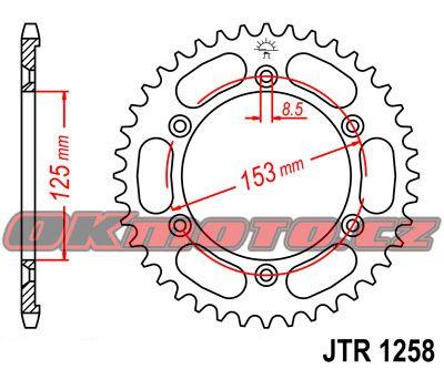 Rozeta JT Sprockets - Honda XR 125 L, 125ccm - 03>08