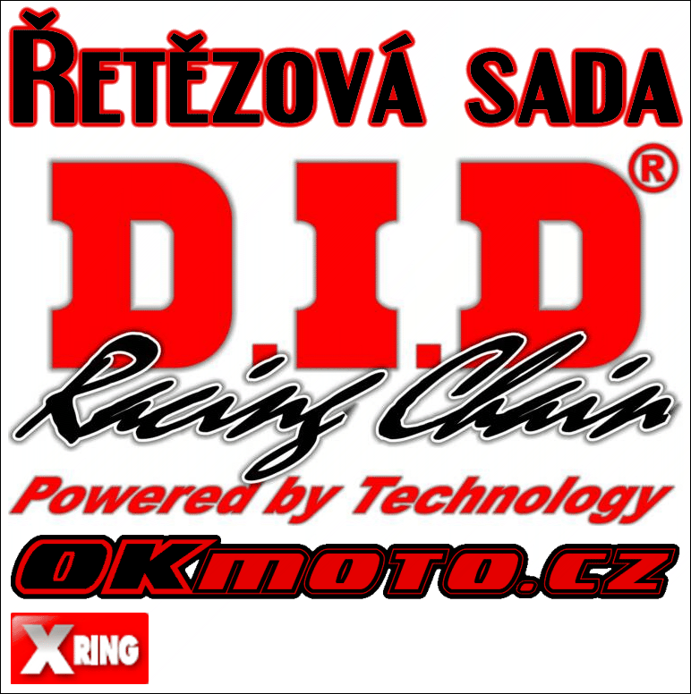 Řetězová sada D.I.D - 520VX3 X-ring - Honda XR 250 R, 250ccm - 96>04 D.I.D (Japonsko)