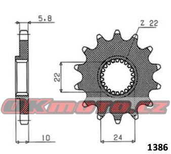 Řetězové kolečko SUNSTAR - Aprilia Pegaso 650, 650ccm - 98>00 SUNSTAR (Japonsko)