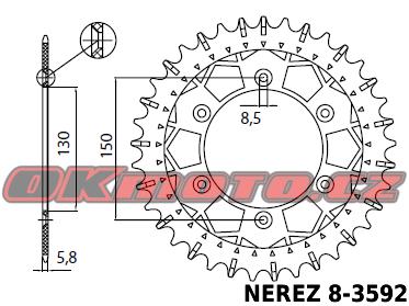 Rozeta SUNSTAR (NEREZ) - Yamaha WR 250 F, 250ccm - 99>00 SUNSTAR (Japonsko)