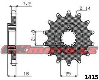 Řetězové kolečko SUNSTAR - Ducati 916 Monster S4, 916ccm - 01>03 SUNSTAR (Japonsko)