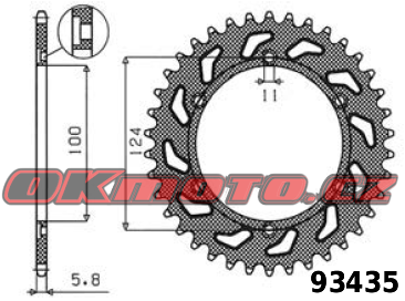 Rozeta SUNSTAR - Ducati 900 SS, 900ccm - 98>02 SUNSTAR (Japonsko)