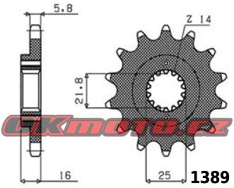 Řetězové kolečko SUNSTAR - Ducati 900 Super Sport, 900ccm - 89>92 SUNSTAR (Japonsko)