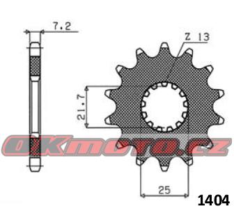 Řetězové kolečko SUNSTAR - Triumph 675 Street Triple, 675ccm - 08>13 SUNSTAR (Japonsko)