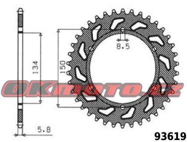 Rozeta SUNSTAR - Kawasaki KLX 450 R, 450ccm - 07>14 SUNSTAR (Japonsko)