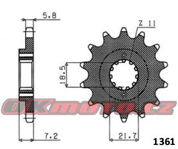 Řetězové kolečko SUNSTAR - Honda XR 250 R, 250ccm - 96>04 SUNSTAR (Japonsko)
