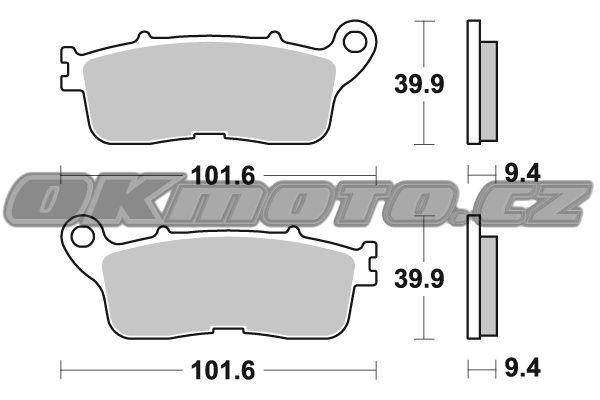 Zadní brzdové destičky SBS 892LS - Honda CROSSTOURER 1200ccm - 12> SBS (Bendix)