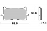 Přední brzdové destičky SBS 940HS - Honda CRF 1000 L Africa Twin, 1000ccm - 16-19
