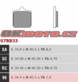 Přední brzdové destičky Brembo 07BB3396 - BMW S1000RR, 1000ccm - 09-18