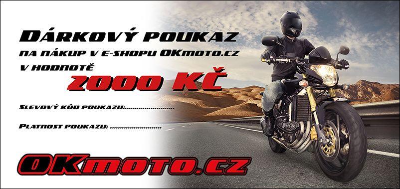 Elektronický dárkový poukaz OKmoto.cz na nákup zboží v hodnotě 2000 Kč