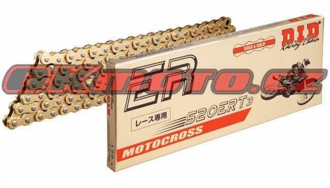 Řetěz DID - 520ERT3 - 106 článků-zlatý D.I.D (Japonsko)
