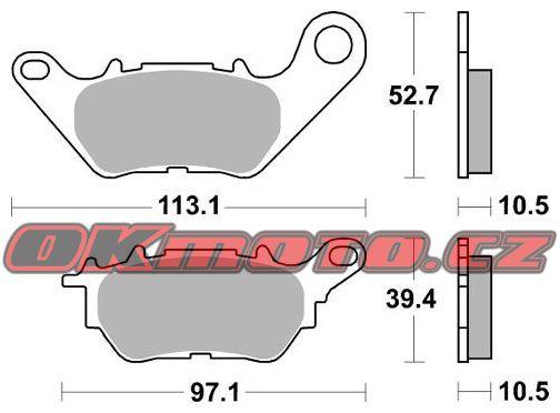 Zadní brzdové destičky SBS 932HF - Yamaha YZF-R3, 321ccm - 15-18 SBS (Bendix)