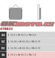 Přední brzdové destičky Brembo 07BB3396 - BMW S1000R, 1000ccm - 14-18