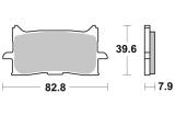 Přední brzdové destičky Brembo 07HO62LA - Honda CRF 1000 L Africa Twin DCT, 1000ccm - 16-19